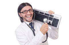 The it technician in security concept Royalty Free Stock Photo