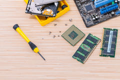 Technician support upgrade part. Stock Image