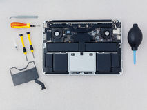 Technician support upgrade part . Royalty Free Stock Images