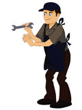 Technician. S on a white background Stock Photo