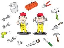 Technician tools. Technician boxtools tools Instruments manual Royalty Free Stock Photos