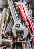 Technician tools in the box Royalty Free Stock Photos