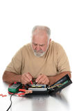 Technician Using Testing Equipment Royalty Free Stock Photography