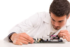 Technician at work Royalty Free Stock Photo