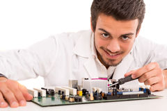 Technician at work Stock Image