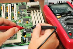 Technician working Stock Image