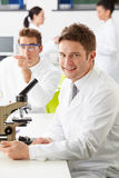 Technicians Carrying Out Research In Laboratory Royalty Free Stock Image