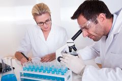 Technicians or medical staff in a laboratory Stock Photography