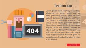 Technicien Conceptual Banner Illustration Libre de Droits