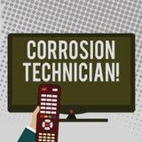 Technicien de corrosion d'écriture des textes d'écriture Concept systèmes de contrôle signifiant d'installation et de maintie illustration de vecteur