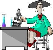 Technicien de laboratoire illustration de vecteur