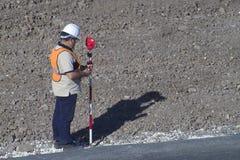 Technicien de théodolite Image stock