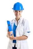 Technicien féminin Photo stock
