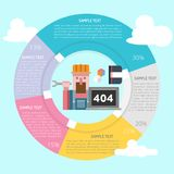 Technicien Infographic Diagram illustration stock