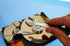Technicien-réparateur PL in FR has S on both words de PC Images libres de droits