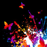 Technicolor butterfly Royalty Free Stock Images