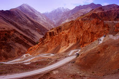 Technicolor Ladakh mountain landscape Stock Photos