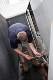 Technicus HVAC stock foto's