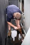 Technicus HVAC royalty-vrije stock afbeelding