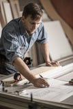 Techniczny architekta odmienianie buduje plany Zdjęcie Stock