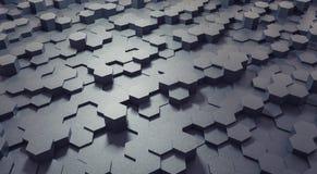 Techniczny 3D projekta struktury heksagonalny tło fotografia stock
