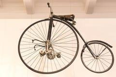Techniczny muzeum w Wiedeń eksponuje ekspozycj teraźniejszość historia rozwój pojazdy i motocyklu moped bi Obrazy Stock