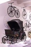 Techniczny muzeum w Wiedeń eksponuje ekspozycj teraźniejszość historia rozwój pojazdy i motocyklu moped bi Fotografia Stock