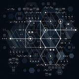 Techniczny plan, konstruuje szkic Wektorowy rysunek przemysłowy ilustracji