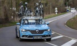 Techniczny samochód Delko Marseille Provence drużyna - ładny 2019 obrazy royalty free