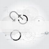 Techniczny sztandaru szablon Fotografia Royalty Free