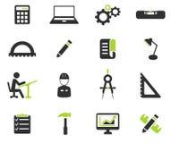 Techniek eenvoudig pictogrammen Stock Foto's