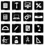 Techniek eenvoudig pictogrammen Royalty-vrije Stock Afbeeldingen