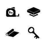 Techniekhulpmiddelen Eenvoudige Verwante Vectorpictogrammen stock illustratie