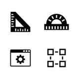 Techniekinstrumenten Eenvoudige Verwante Vectorpictogrammen Royalty-vrije Stock Foto