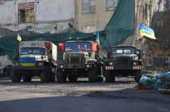 Technik-bewaffnete Kräfte von Ukraine Stockbild