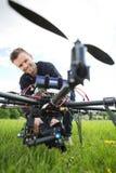 Technik Gromadzić kamera Na UAV trutniu zdjęcie royalty free