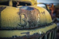 Technik radioativo abandonado que participou na liquação do acidente imagens de stock