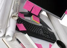 Technik-Schreibtisch Stockfotos