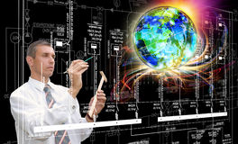 Technik von industriellen Kommunikationstechnologien Ingenieur Designer Stockbilder