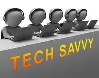 Technika Cyfrowy Komputerowego eksperta 3d Doświadczony rendering ilustracja wektor