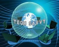 Technika Cyfrowy Komputerowego eksperta 3d Doświadczony rendering royalty ilustracja