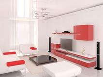 Technika czerwony żywy pokój ilustracja wektor