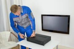 Technika naprawiania amplifikator Zdjęcie Stock