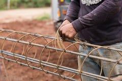 Technika plika drutu stali prącie Zdjęcie Stock