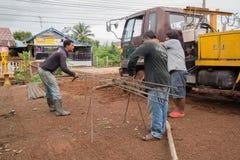 Technika plika drutu stalowy prącie dla budowy pracy Obrazy Royalty Free