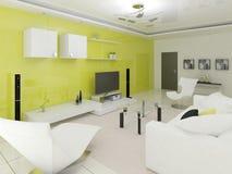 Technika projekt żywy pokój ilustracja wektor