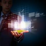 Technikautomatisierungs-Gebäudeentwurf Lizenzfreie Stockfotos