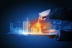 Technikautomatisierungs-Gebäudeentwurf Stockfoto