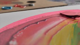Techniken der Malerei stock video