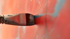 Techniken der Malerei stock footage